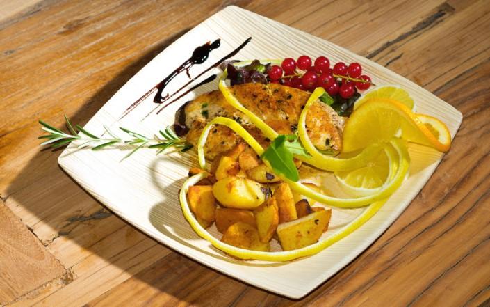 piatto per buffet eco sostenibile