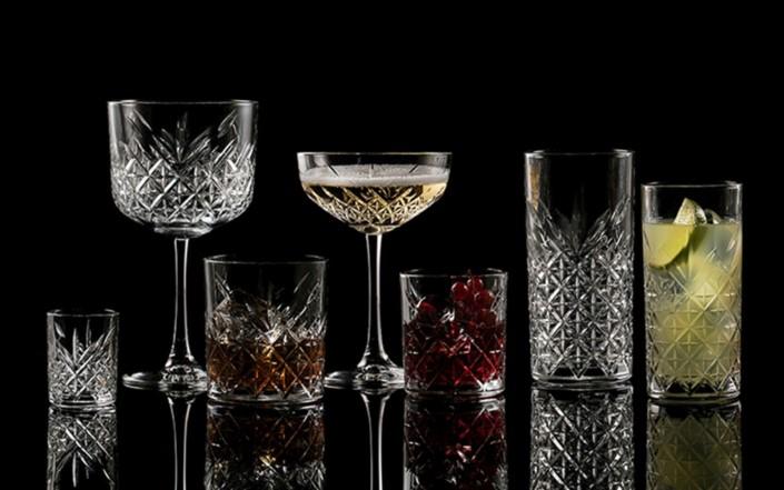 bicchieri con particolare